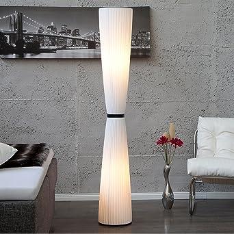 Lounge Designer Stehlampe Elegance Plissee Bodenlampe