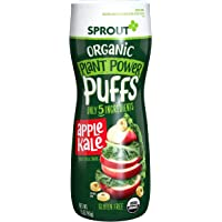Sprout Organic Baby Food Baby Snacks Plant Power Puffs, Apple Kale, 1.5 Ounce Canister (Pack of 1)