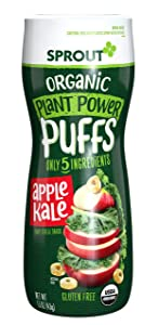 Sprout Organic Quinoa Puffs Baby Snack - Apple Kale - 1.5 oz - 6 pk (10818512015149)