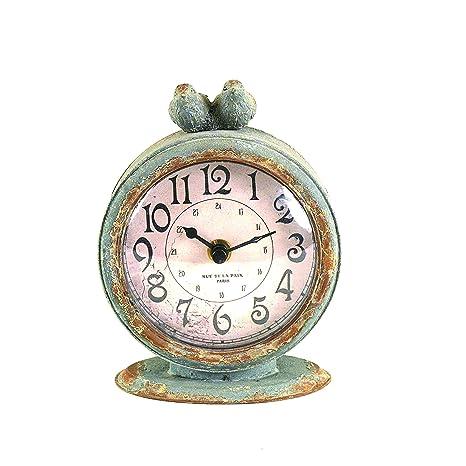 Amazon.com: Reloj Creative de mesa, gris peltre, con ...