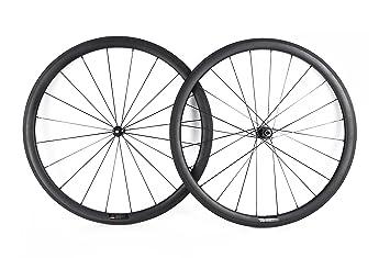 YouCan bicicleta 38 mm Carbono Juego de ruedas para bicicleta de carretera 700 C clincher DT Swiss Hub Sapim radios, 20.5mm: Amazon.es: Deportes y aire ...