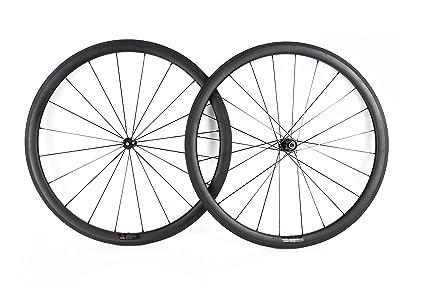 YouCan bicicleta 38 mm Carbono Juego de ruedas para bicicleta de carretera 700 C clincher DT