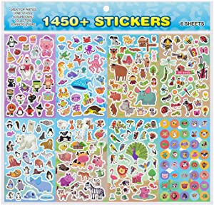 Animal Stickers,Stickers for Kids Assortment Set (1450+ Count),8 Themes Collection for Children,Teacher, Parent, Grandparent, Kids, Craft, School, Planners & Scrapbooking,Present Idea for Children