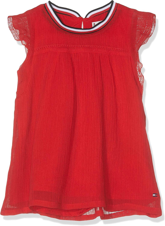 Tommy Hilfiger Baby Girls Sporty Solid Crepe Top S//S Vest