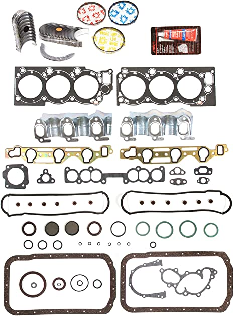 Standard Size Main Rod Bearings Standard Size Piston Rings Evergreen Engine Rering Kit FSBRR2030EVE\0\0\0 Fits 88-95 Toyota 4Runner Pickup 3VZE Full Gasket Set