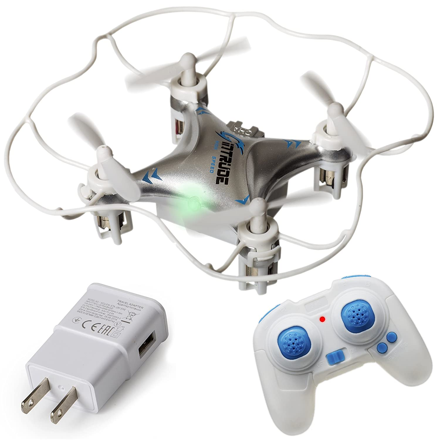 Easy-to-Use 6-Axis Gyro Advanced Stunt Controller LED Light System by Duddy duddy-cam Small Beginner Flying RC Helicopter Drone for Kids and Adults Mini Quadcopter Drone Rugged FREE Wall Charger