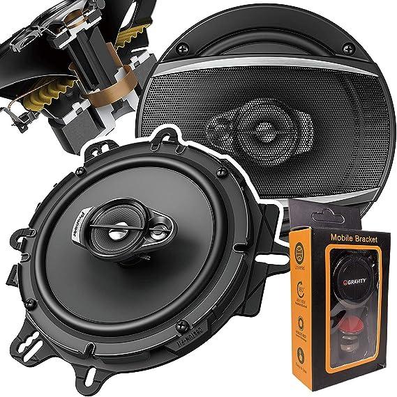 Pair Boss 6.5 Inch 300 Watt 3-Way Car Coaxial Audio Red Stereo Speakers CH6530