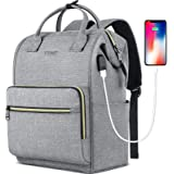 Laptop Backpack for Women Men, Travel Backpack for 15.6 Inch Laptop with RFID Pocket, USB Charging Port Water Resistant Durab