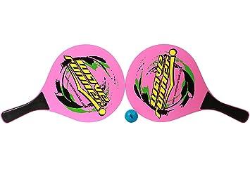 Wave Runner Raqueta de pádel de tenis de madera para playa, verano, deportes, color rosa, talla única: Amazon.es: Deportes y aire libre