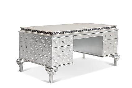 Superbe Michael Amini Hollywood Swank Desk, Pearl Caviar
