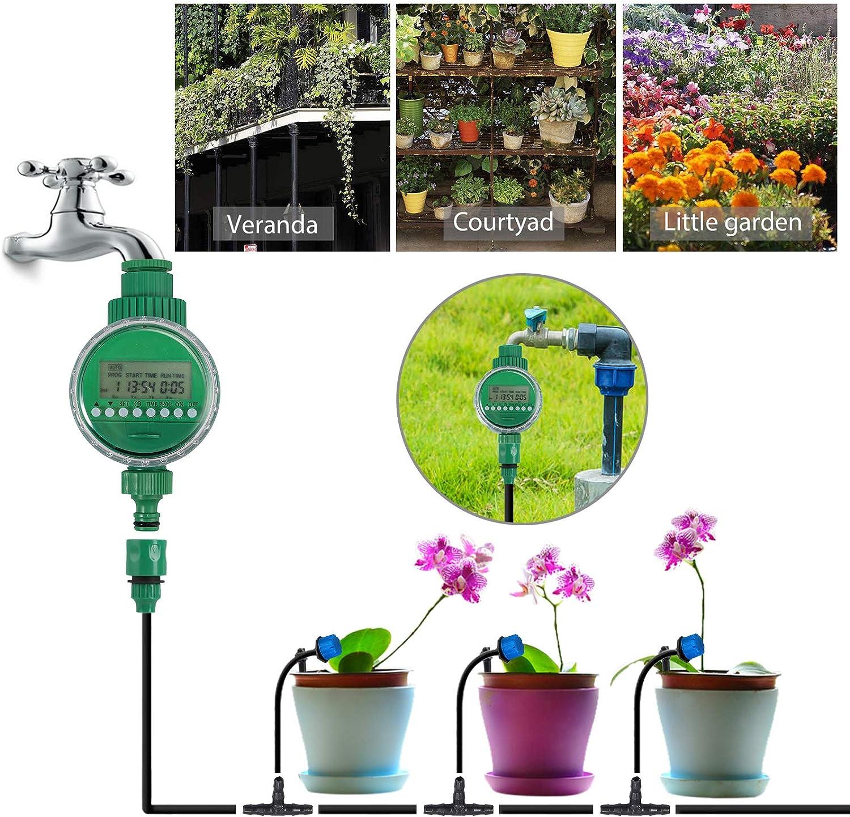 Blumenbeetterrasse Pflanzen f/ür Gartenlandschaften CAMWAY 25M Bew/ässerungssystem Bew/ässerung Kit Gew/ächshaus automatischem Gartenbew/ässerungsset Inklusive Bew/ässerungstimmer