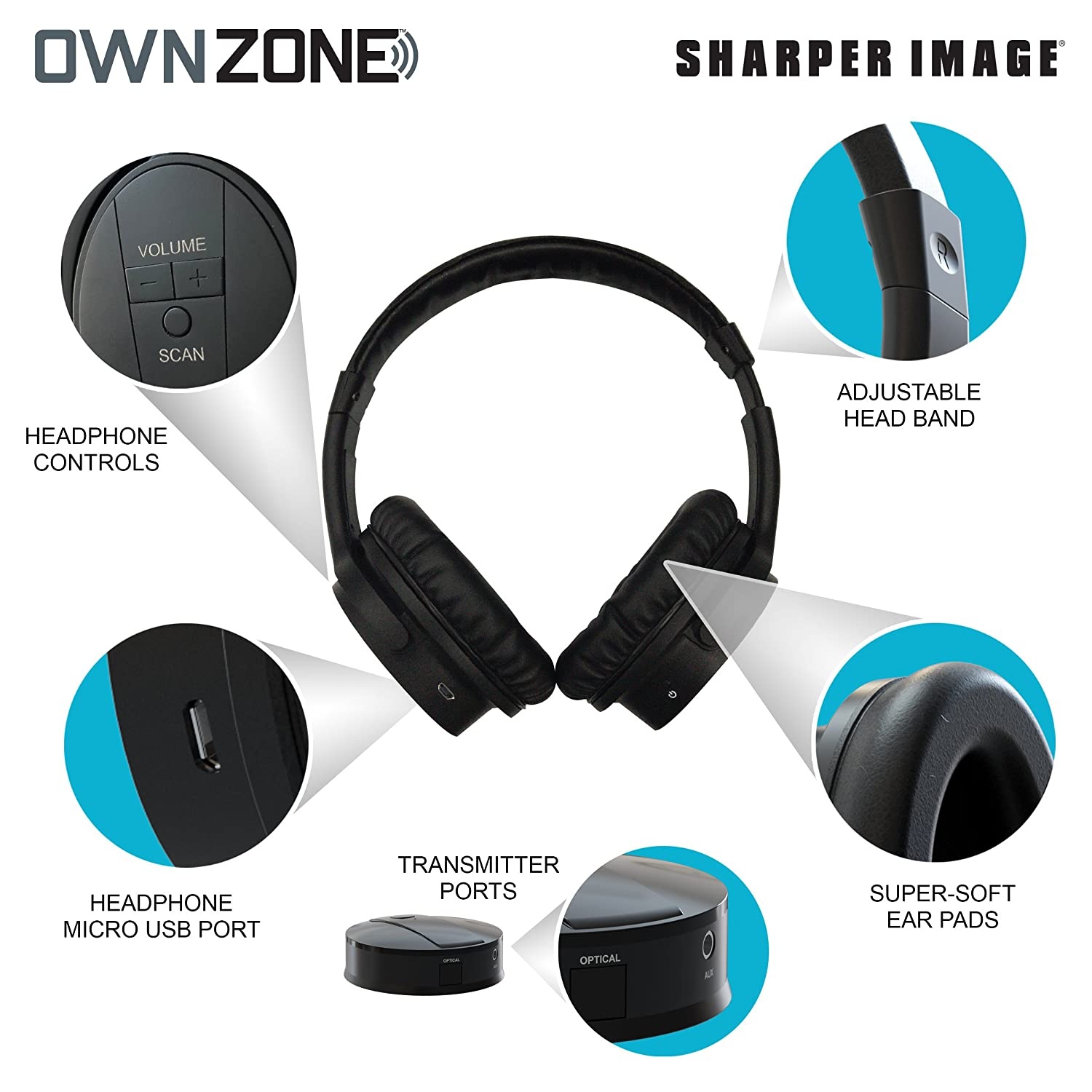 Amazoncom Sharper Image Own Zone Wireless Rechargeable Tv