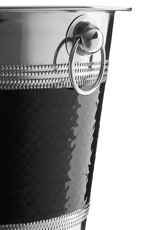 Premier Housewares Cubo Enfriador Acero Inoxidable Centimeters Black