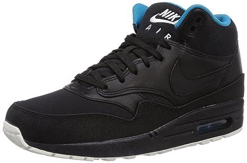 meilleures baskets 39a46 cbc6a Nike Air Max 1 Mid FB, Pantoufles Homme, Noir/Turquoise Fluo ...