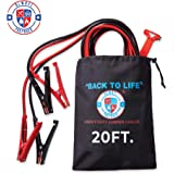 20 ft 4 Gauge Jumper Cables with Carry Bag- Premium Heavy Duty Jumper Cables & Roadside Assistance Auto Emergency Kit - Exclu