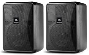JBL Control 23-1 | Ultra Compact 3inch Two Way Vented Loudspeaker Black Pair