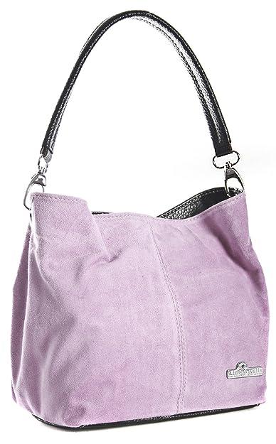 780fdbb01fc0 LIATALIA Womens Mini Real Italian Suede Leather Single Strap Hobo Slouch Bag  - DEMI   Baby