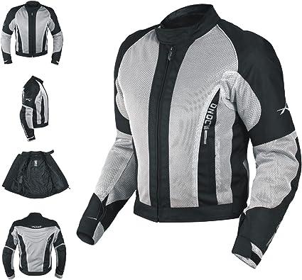 Et/é Blouson Textile Touring Sport Moto Scooter Mesh Doublure Impermeable noir L