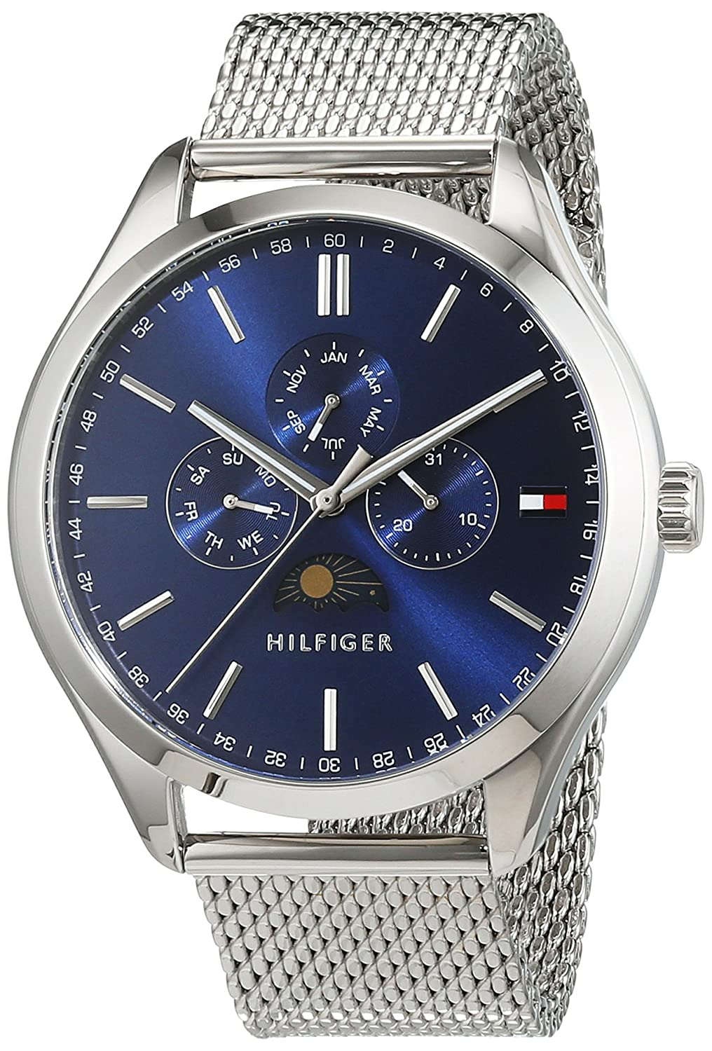 Amazon.com: Tommy Hilfiger Mens OLIVER Quartz Stainless Steel Casual Watch, Color:Silver-Toned (Model: 1791302): Watches