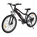 Cooshional Vélo électrique de montagne en Alliage d'aluminium Cadre Pliant Chargé 150kg 26inch avec 36V 12A batterie au lithium