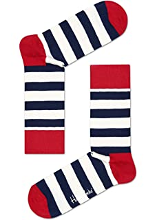 Happy Socks Stripe Sock, Calcetines Casual para Mujer, 100 DEN (Pack de 6