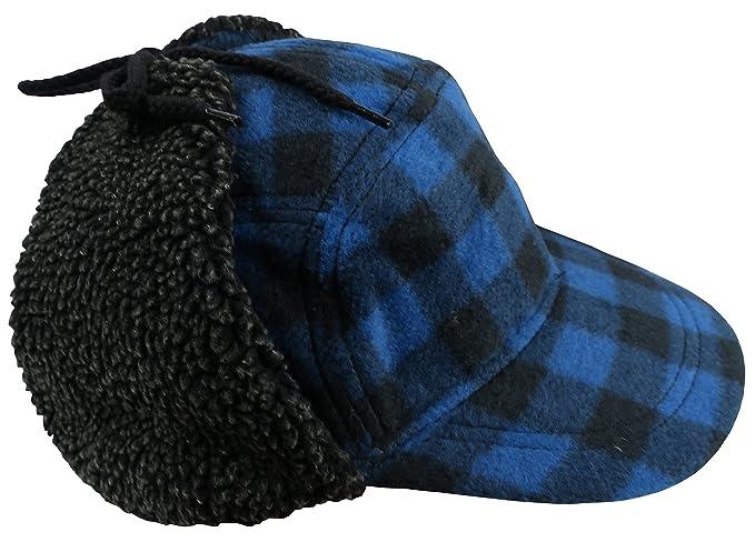 81c9893f N'Ice Caps Big and Little Boys and Teens Buffalo Plaid Elmer Fudd Hat (