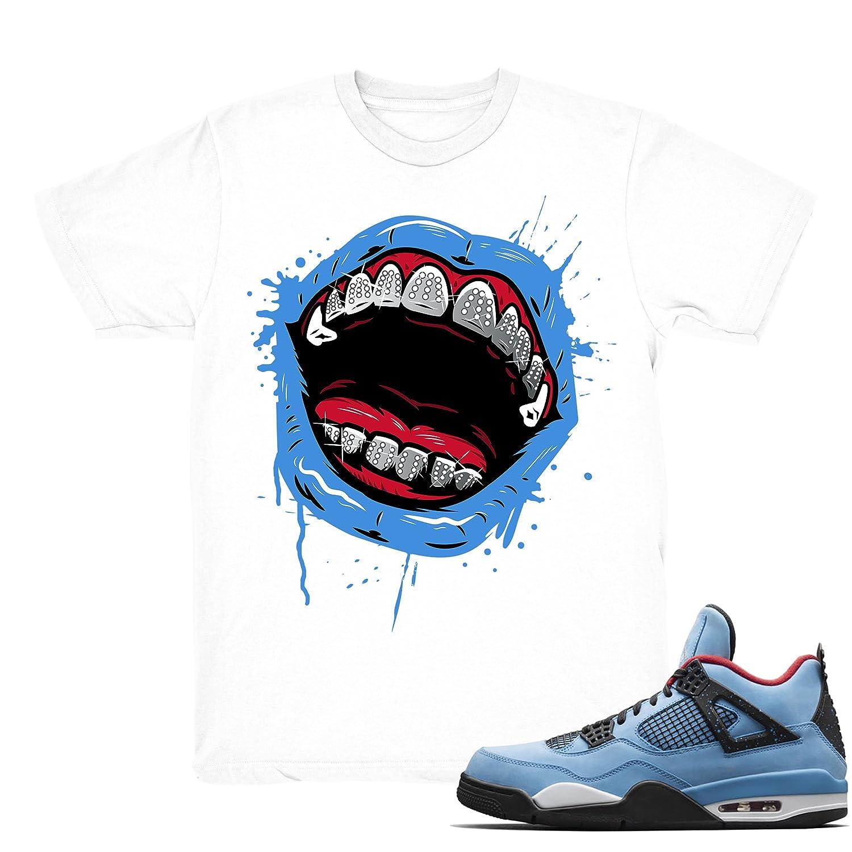 f2b0615f14443 Amazon.com: Travis Scott 4 Grillz Drip Shirts Match Jordan 4 Travis ...