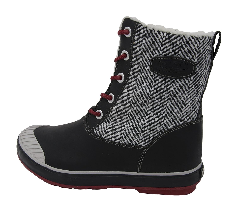 [キーン] KEEN ウィンターブーツ Elsa Boot WP B074MDZ86X 10.5 B(M) US New Black/Red Dahlia New Black/Red Dahlia 10.5 B(M) US