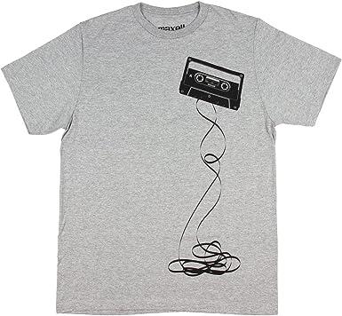 Hybrid Maxell Hombres de la Vieja Escuela de Cintas de Audio con Licencia deshecha Heather T-Camisa (pequeño)