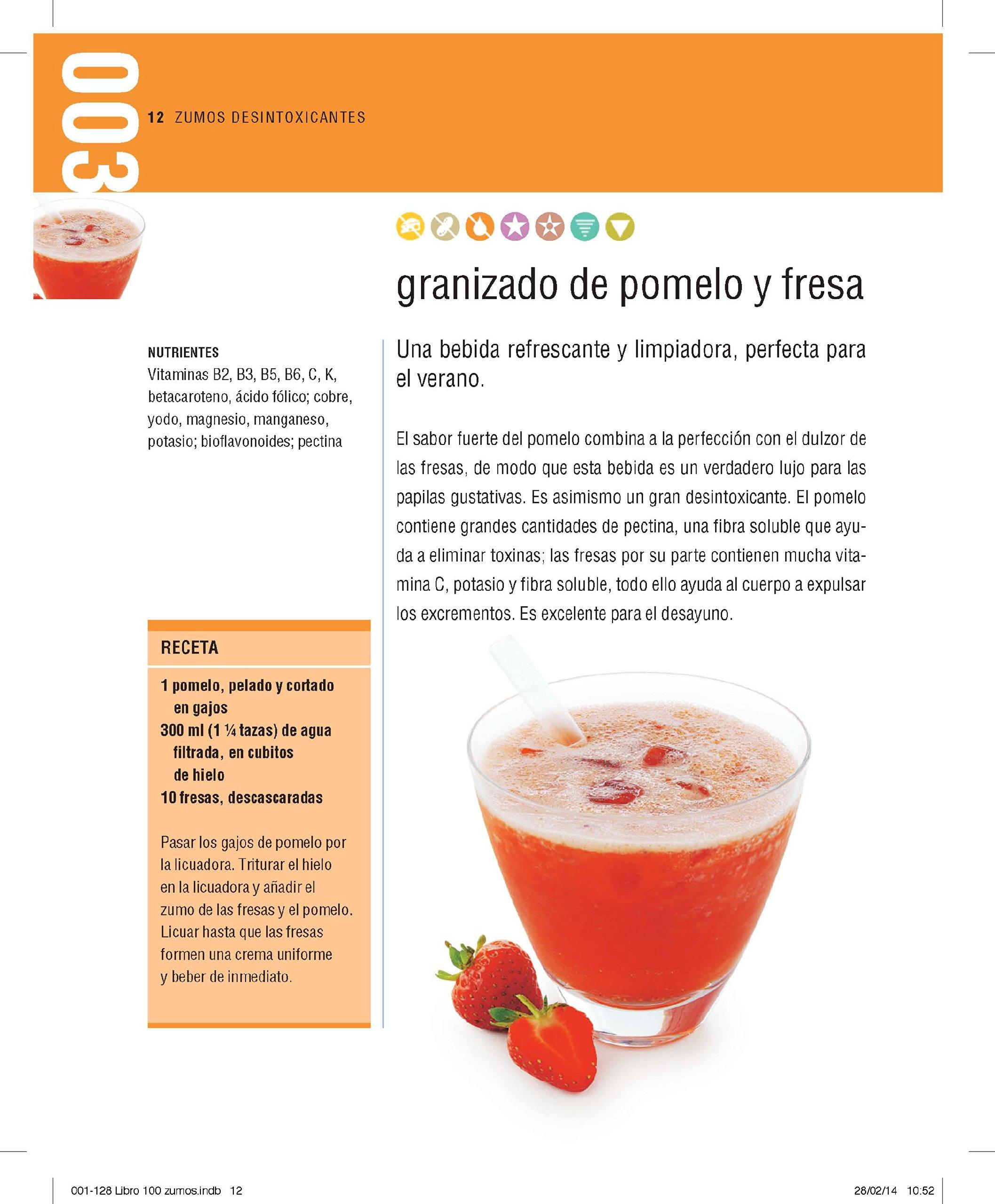 100 zumos para cuidar tu salud: 100 recetas naturales para estimular tu cuerpo y tu mente Vivir mejor: Amazon.es: Owen, Sarah, Ana Riera Agaray;: Libros