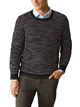 Walbusch Herren Alpaka Pullover Farbspektrum gemustert