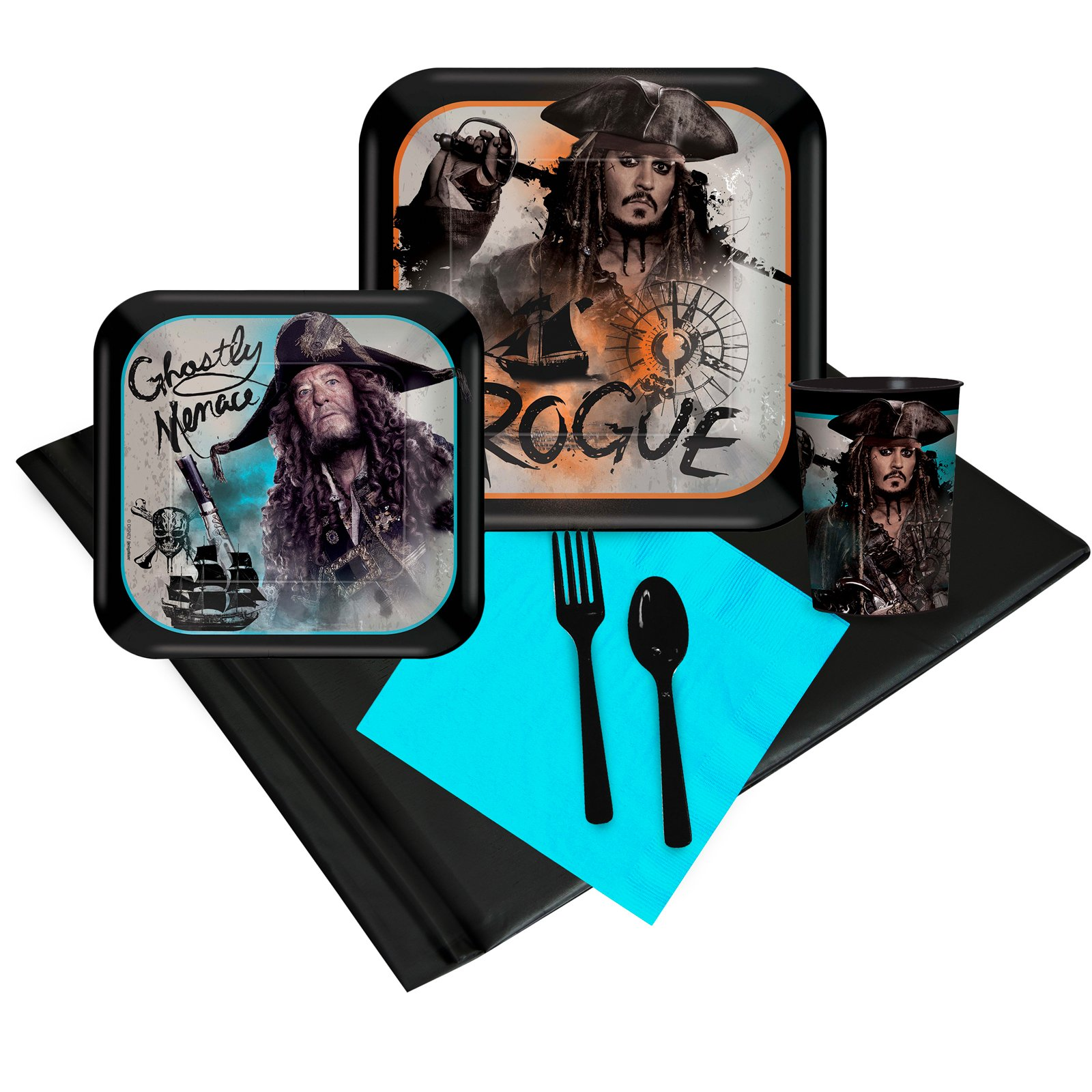 BirthdayExpress Pirates of The Caribbean Party Supplies Party Pack with Favor Cups (16)