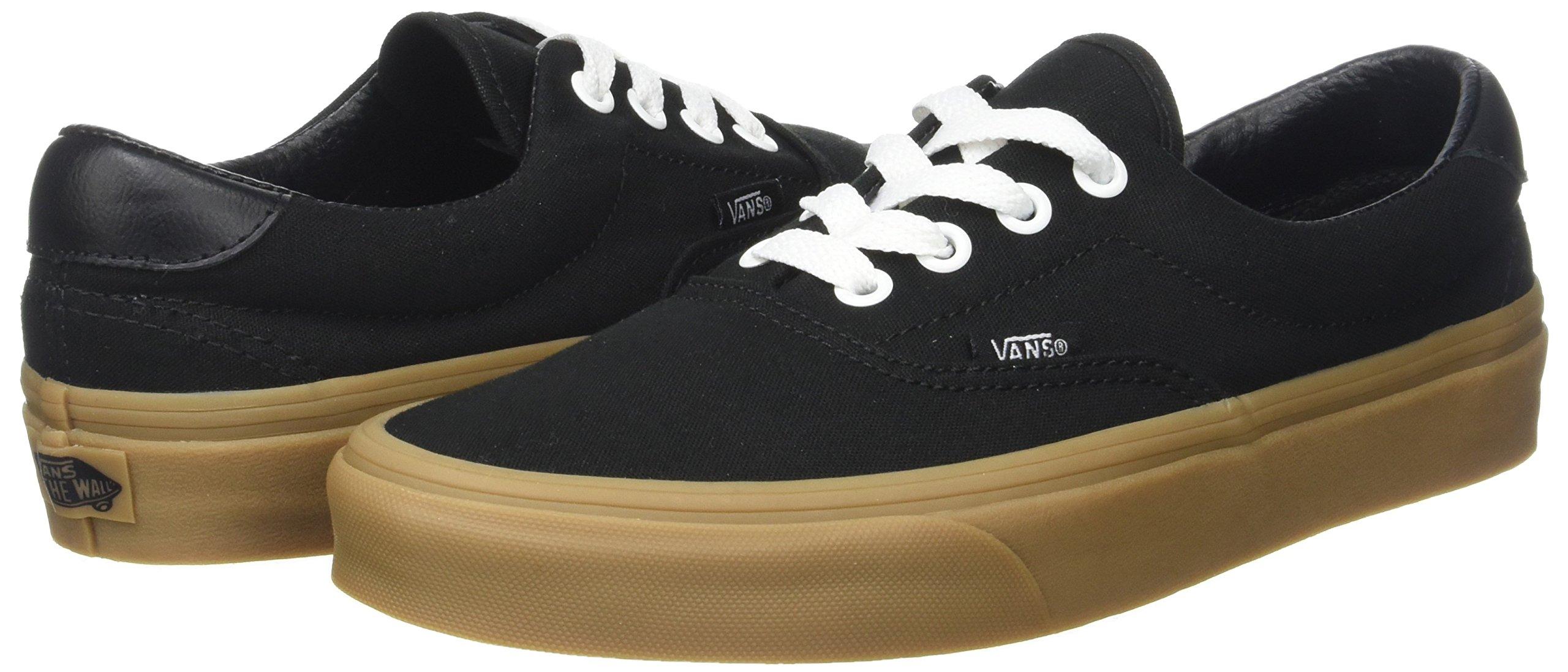 Vans Unisex Adults' Era 59 Canvas Gum Trainers, Black (Canvas Gum/Black/Light Gum), 10.5 UK 45 EU by Vans (Image #5)