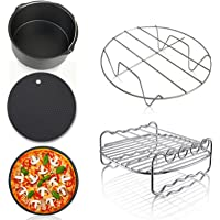 Air Fryer Accessories Deep Fryers Universal including Fryer basket,baking pizza pan,grill pan,pan support, pad by Yier