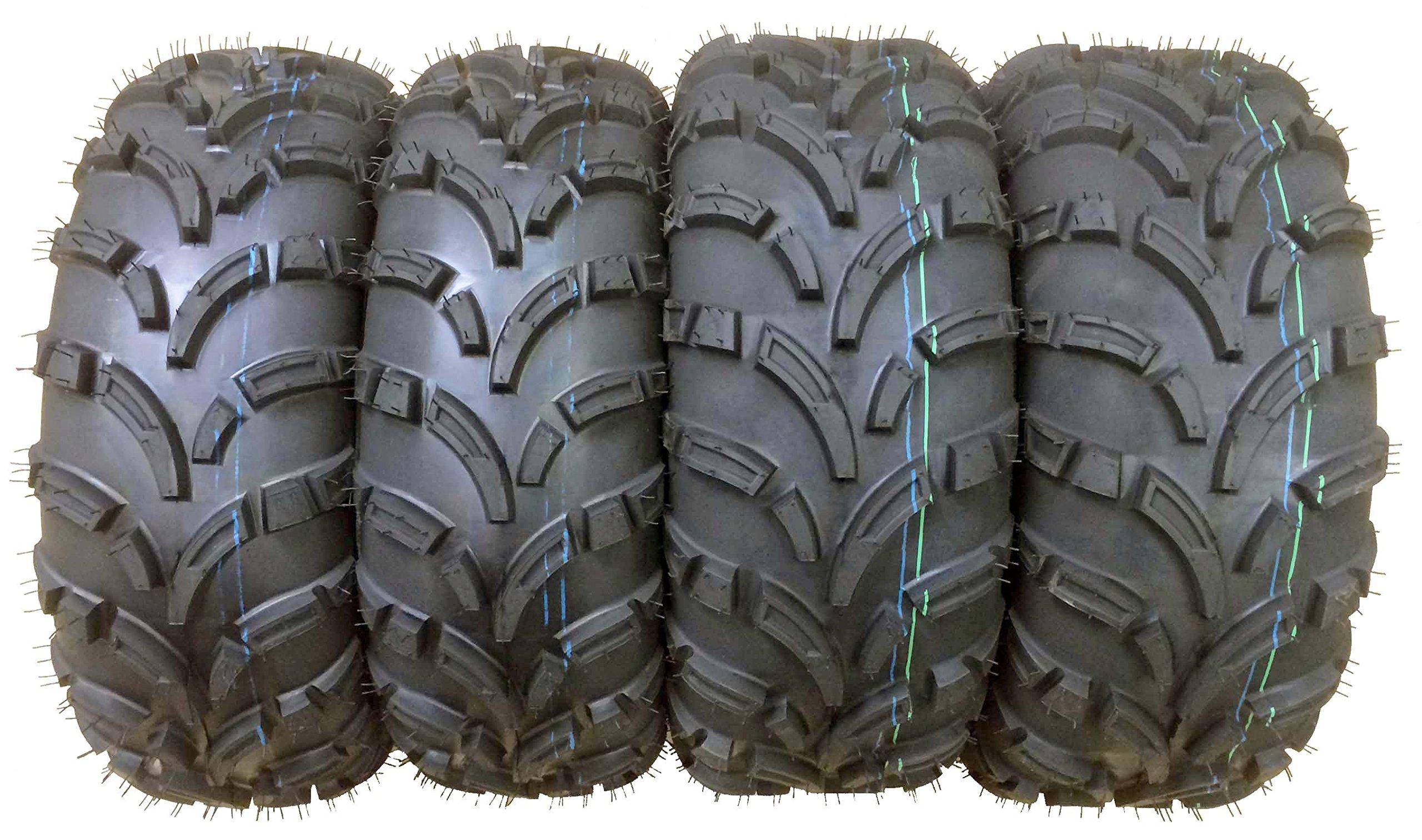 Set of 4 New WANDA ATV/UTV Tires 25x10-12 Front & 25x11-12 Rear /6PR P373