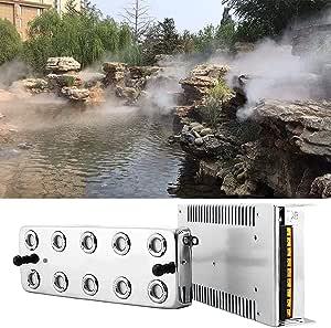 TOPQSC Máquina de Niebla Portátil Humidificador de Niebla Ultrasónica 3000ML/H Productor de Spray Máquina de Humo Atomizador de Humidificador de ...