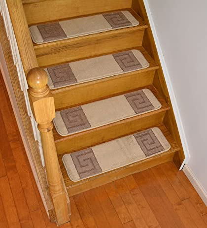 Millenium Stair Tread Treads Greek Key Design Indoor Skid Slip Resistant  Carpet Stair Tread Treads Greek