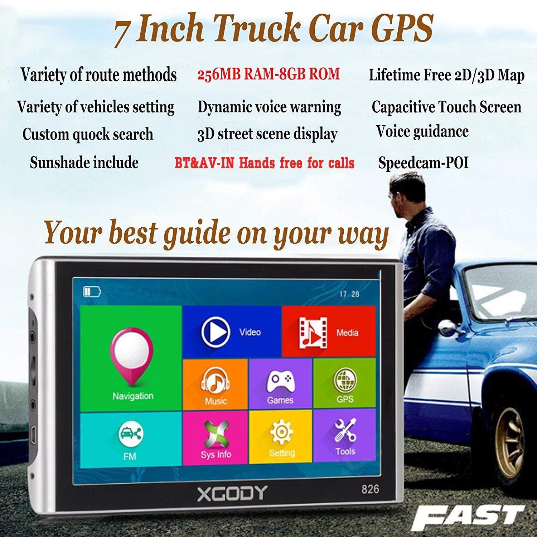 Amazon.com: Xgody - Navegación GPS de 7 pulgadas con ...