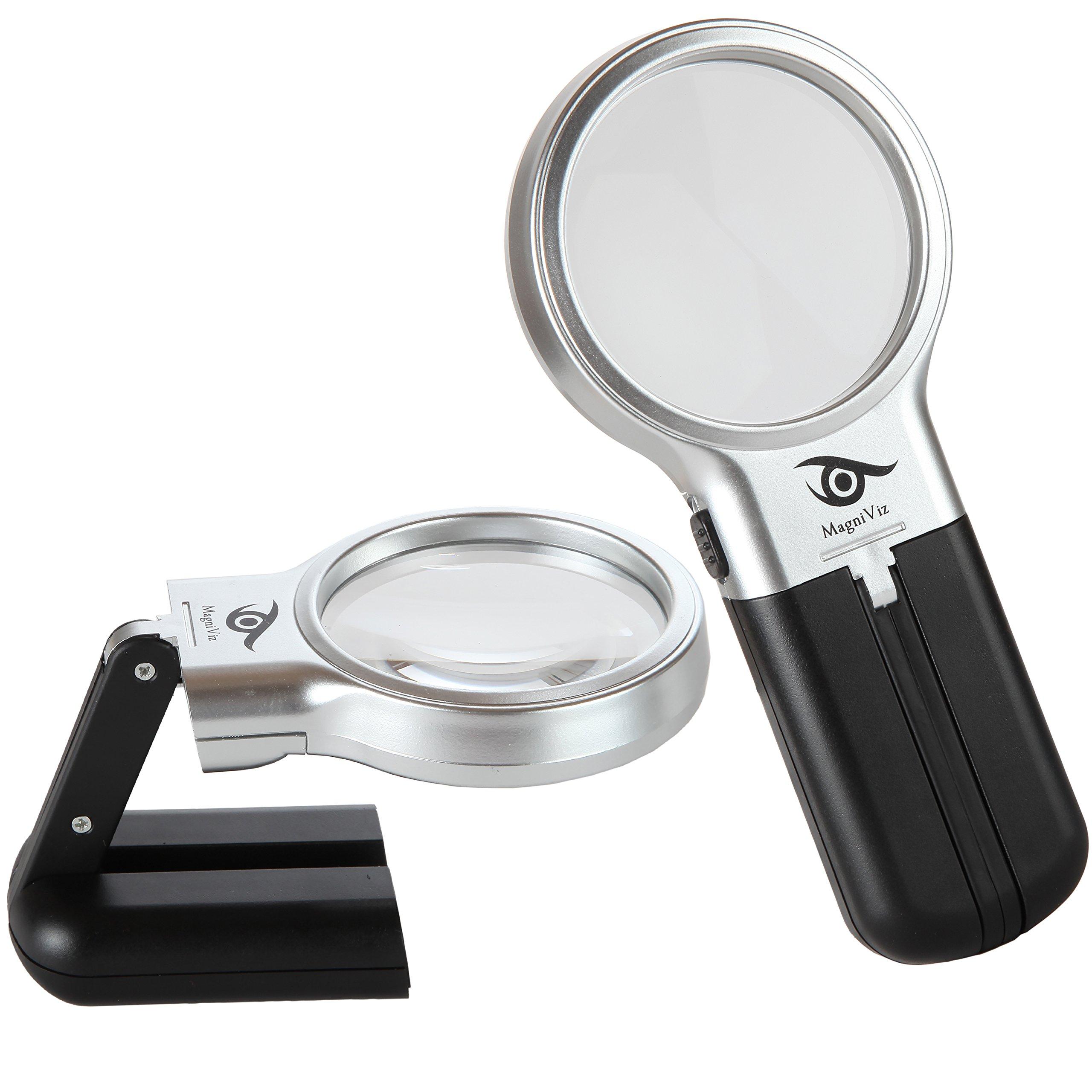 magniviz magnifying glass hobby craft magnifier with led. Black Bedroom Furniture Sets. Home Design Ideas
