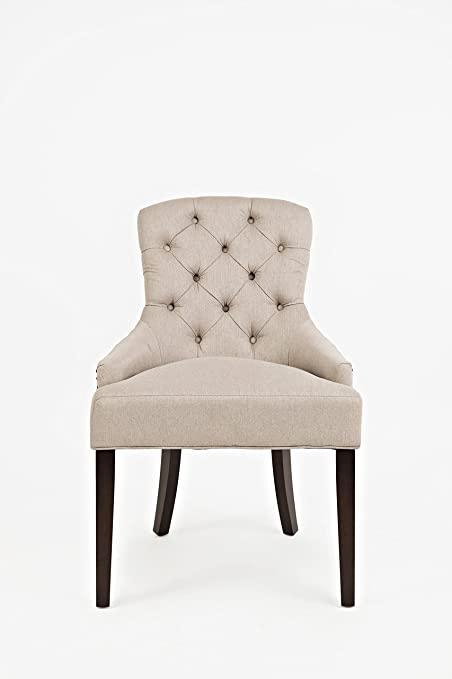 Amazon.com: Jofran CH Pierce Accent Chair Easy Living Taupe ...