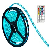 Amazon Price History for:LED Lights Strip,Oak Leaf SMD5050 Waterproof 16.4ft RGB Led Strip Lighting with 44 Key IR Remote Control For For Gardens/ Homes/ Kitchen/ Cars/ Bar