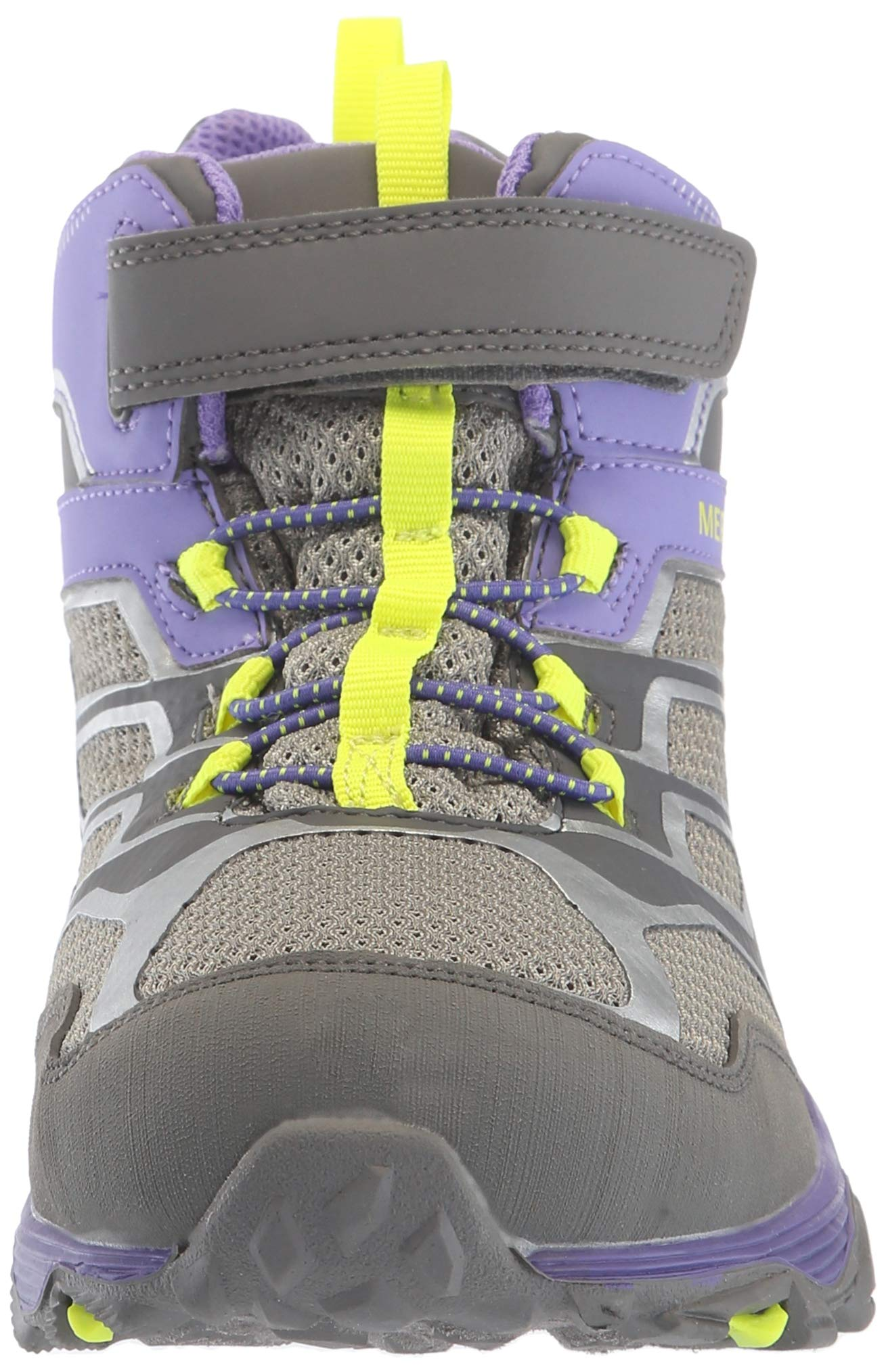 Merrell Girls' Moab FST Mid A/C WTRPF Hiking Shoe, Grey/Purple, 3.5 Medium US Big Kid by Merrell (Image #4)