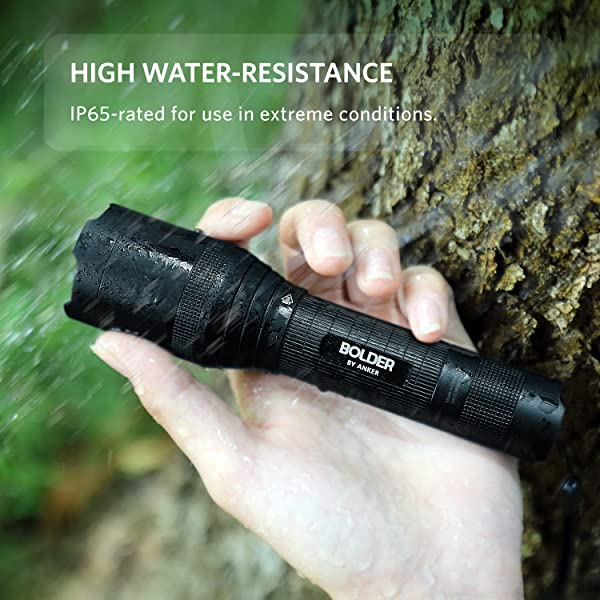 Anker Rechargeable Bolder LC90 LED Flashlight, Pocket-Sized Torch with Super Bright 900 Lumens CREE LED