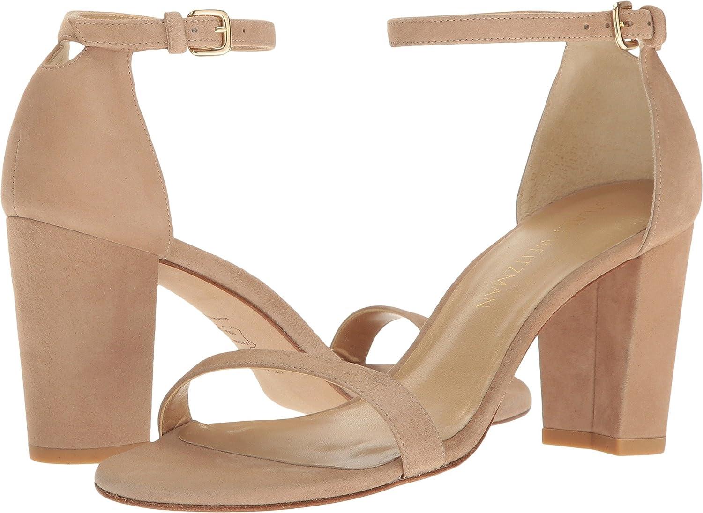 Stuart Weitzman Women's Nearlynude Heeled Sandal B01HIAGO2M 9.5 C/D US|Mojave Suede
