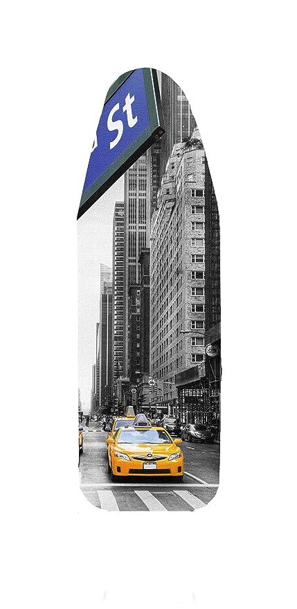 Funda de tabla de planchar, las ciudades, grandes y medianas, 100% de algodón de, 5 mm de espuma de-tapicería, multicolor, 132x48: Amazon.es: Hogar