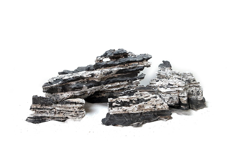 Haquoss Darkomia Stone, Roccia Naturale per Acquario, Aquascaping Aquarialand