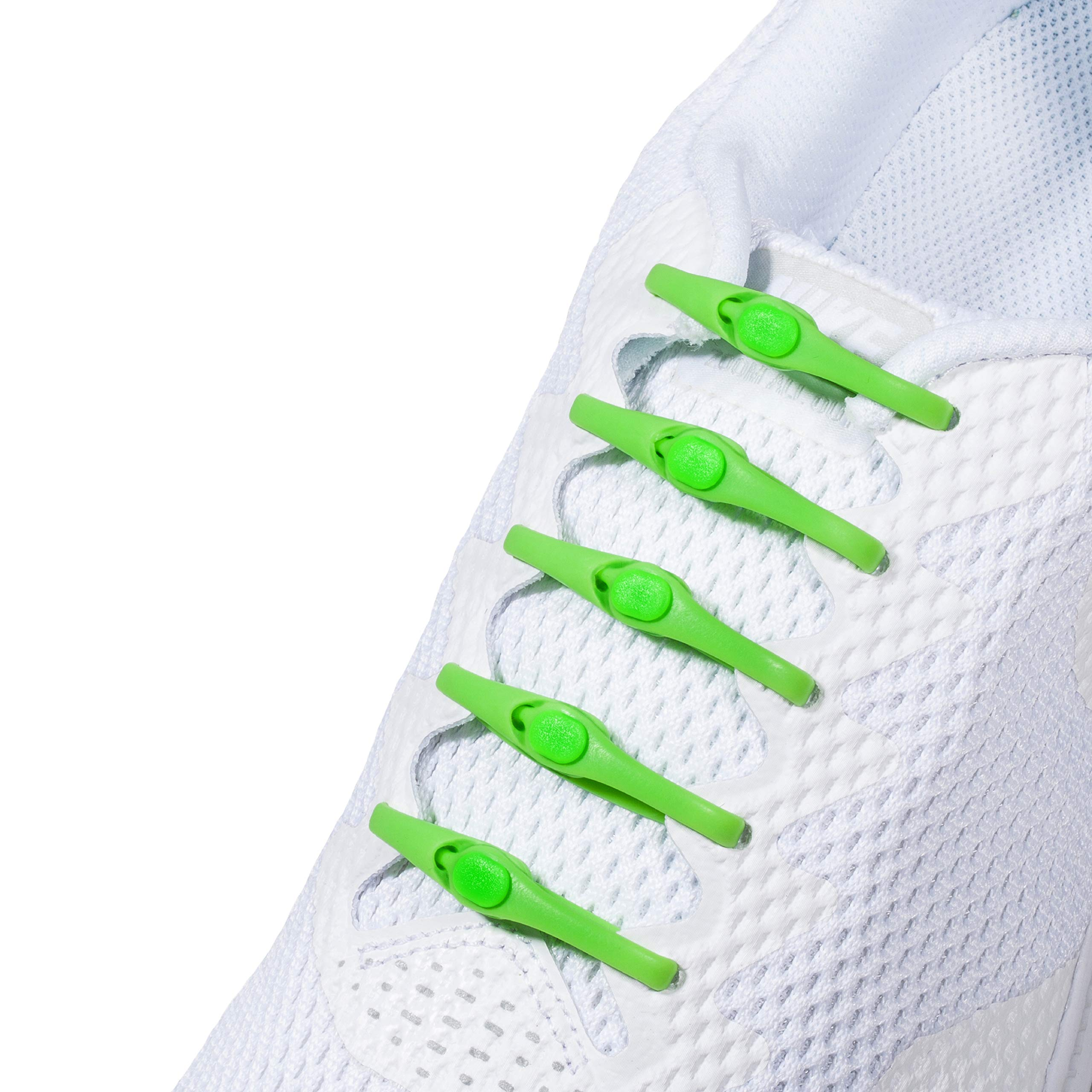 New One-Size Fits All HICKIES 2.0 Performance No-Tie Elastic Laces - Lime (14 HICKIES Shoelaces, Works in all shoes)