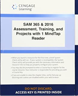 Loose Leaf 9970 Prime LMS Integrated SAM 365 2016 Assessments Trainings And Projects With 1 MindTap Reader
