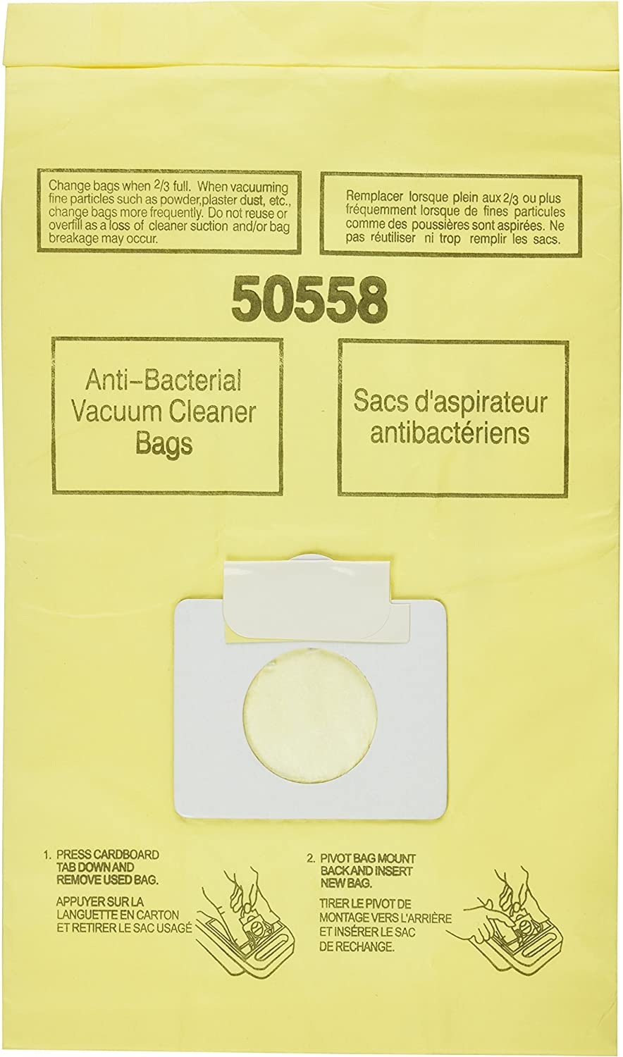 1 X Generic Kenmore Canister Vacuum Cleaner Bags 3 Pack. Style 5055. 50557. and 50558, Also Will Fit Panasonic Style C-5