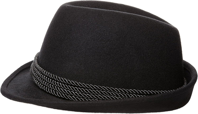 Holiday Oktoberfest Wool Bavarian Alpine Hat XL Black Color,